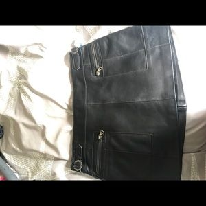 Guess Genuine Leather Skirt (never worn)
